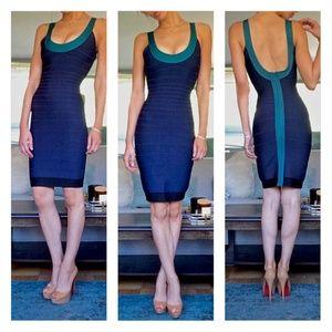 Herve Leger Signature Tasha Bandage Dress